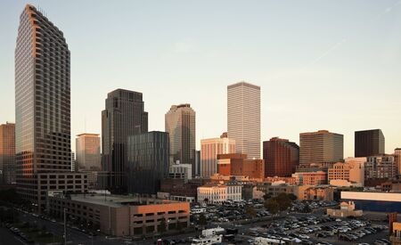 Sunset in downtown fo New Orleans, Louisiana, USA Stock Photo - 12717433