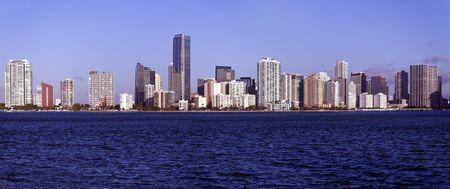 Panoramic Miami, Florida - seen morning time  photo
