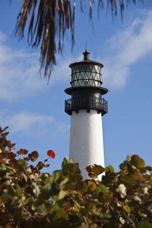 key biscayne: Key Biscayne lighthouse - Miami area Stock Photo