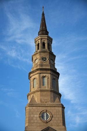 sc: St. Philips Episcopal Church in Charleston, SC. Stock Photo