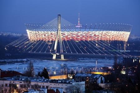 2012 年 1 月 29 日 - ワルシャワ、ワルシャワ、ポーランドの国立競技場。スタジアムは 2012 年 1 月 29 日開設UEFA ユーロ 2012年の中に開幕戦を開催するそ 報道画像