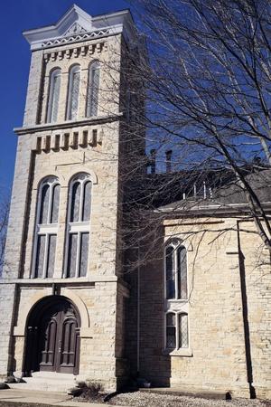 morris: Chiesa nel centro di Morris, Illinois, USA Archivio Fotografico