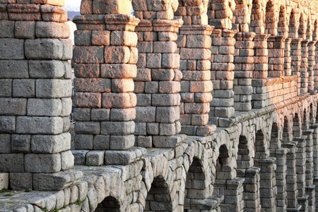 segovia: Aqueduct in Segovia, Spain, Europe Stock Photo