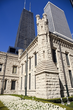 Architecture of Chicago - Hancock Building in the background Stock Photo - 13934891