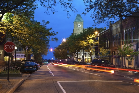 Streets of downtown Holland, Michigan.