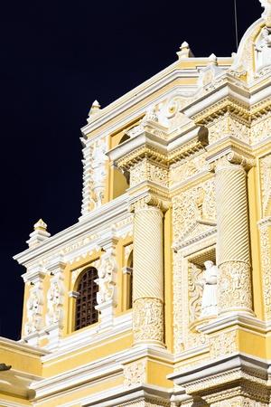 merced: Detail of La Merced Church in Antigua. Stock Photo