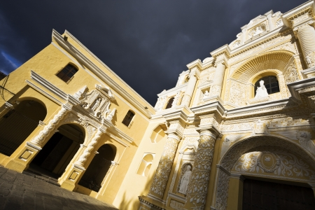 fasade: La Merced Church in Antigua. Stock Photo