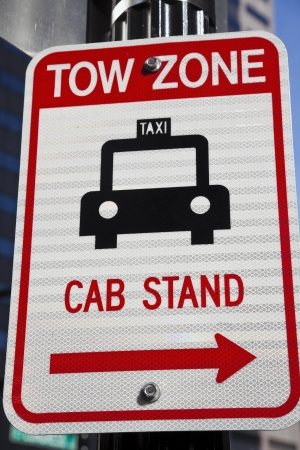Tow Zone - Cab Stand. Seen in Boston. photo