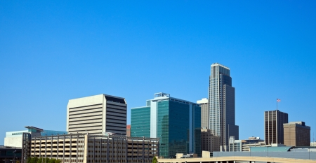 Morning in Omaha, Nebraska. Panoramic view of the city.