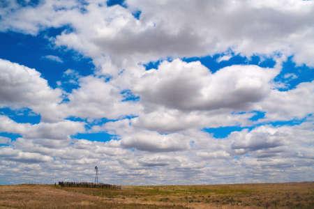 Clouds over Nebraska farm - seen spring time