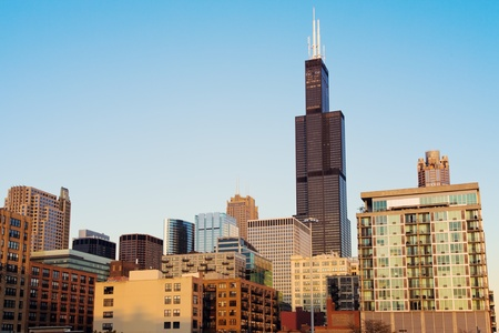 Architecture of Chicago seen during late afternoon. Stock Photo - 15493795