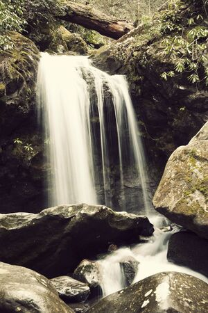 great smoky national park: Falls in Great Smoky Mountains National Park