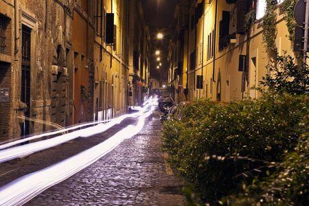 Narrow streets of old Rome, Italy Stock Photo