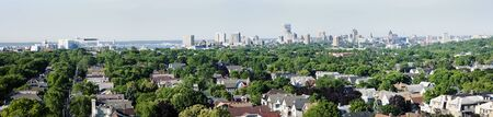 Distant view of downtown Milwuakee - panorama.