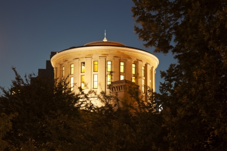 columbus: Columbus, Ohio - State Capitol Building at night Stock Photo
