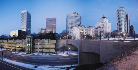 Milwaukee: Panoramic Milwaukee seen before the sunset