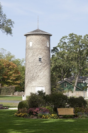 Tower by historic Ellwood House Stock Photo - 16102487