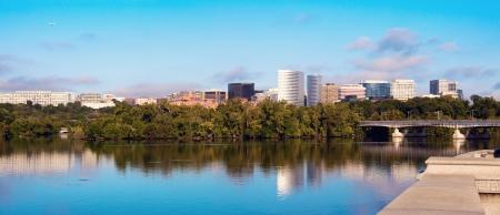 Downtown of Arlington, Virginia and Potomac River - panoramic view.