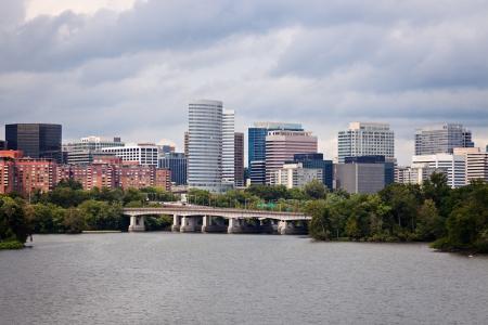 Arlington, Virginia seen with Potomac River from Washington Stock Photo