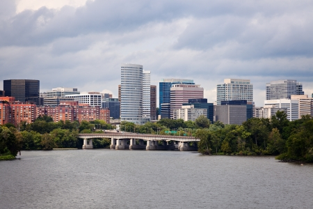 Arlington, Virginia visto con fiume Potomac da Washington Archivio Fotografico