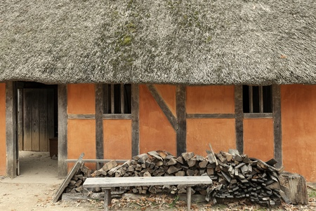 Jamestown - historic house. First English settlement in the Americas. Editorial