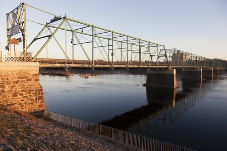 Bridge in Trenton, New Jersey at sunrise. photo