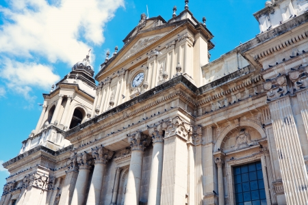 church worship: Cathedral in the center of Guatemala City, Guatemala. Stock Photo