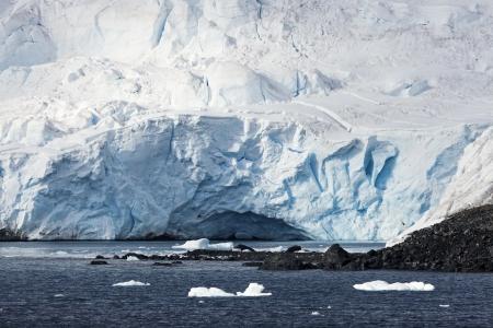 antarctic peninsula: Ice cave - Antarctic Peninsula. Seen from the ship.