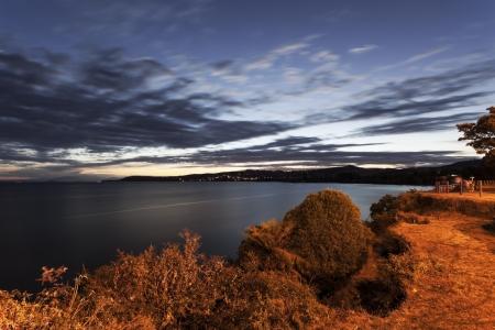 Lake Taupo at sunset - Taupo, New Zealand