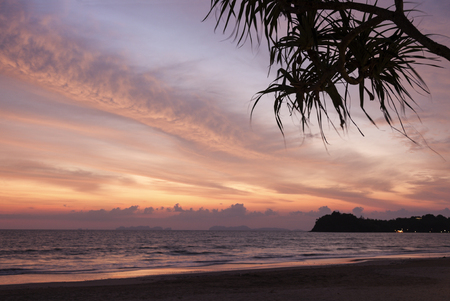 Ko Lanta sunset by the sea - Thailand photo