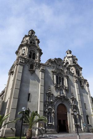 lima: Virgen Milagrosa Church in Miraflores, Lima - Peru Stock Photo