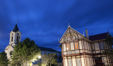 puerto natales: Downtown of Puerto Natales, Chile Editorial