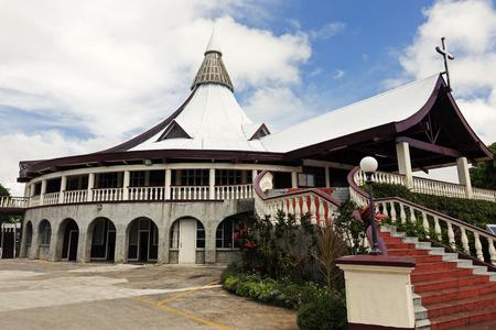 Church in downtown of NukuAlofa, Tonga Stock Photo