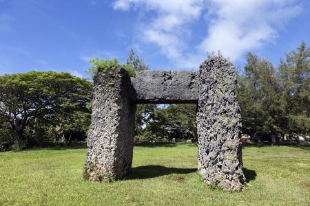 tonga: Haamonga a Maui arch - Tonga Stock Photo