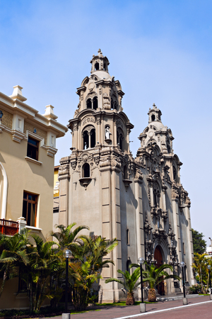 miraflores: Virgen Milagrosa Church in Miraflores, Lima Stock Photo