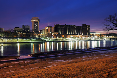 Wichita, Kansas - downtown seen accross the frozen river