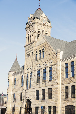 davenport: City Hall in donwtown of Davenport, Iowa, USA