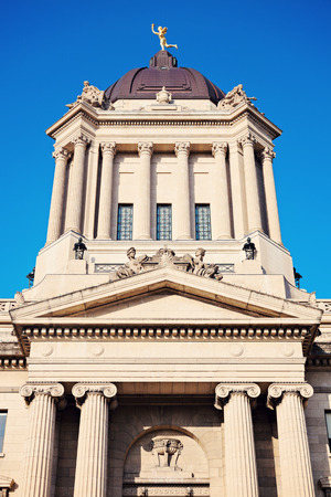 legislative: Manitoba Legislative Building in downtown of Winnipeg