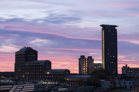 Moderne architectuur van Den Haag. Den Haag, Zuid-Holland, Nederland.