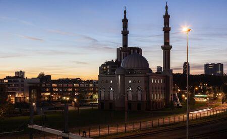 rotterdam: Essalam Mosque. Rotterdam, South Holland, Netherlands