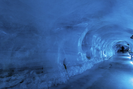 The glacier cave in Mt. Titlis area.