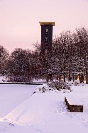 bell tower: Carillon - bell tower. Berlin-Tiergarten, Germany