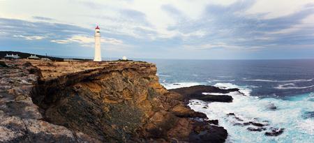 split road: Split Point Lighthouse - Great Ocean Road, Victoria, Australia.