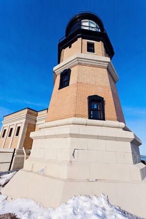 michigan snow: Split Rock Lighthouse. Silver Bay, Minnesota, USA