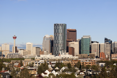 alberta: Modern architecture of Calgary. Calgary, Alberta, Canada