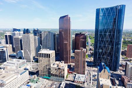 calgary: Panorama of Calgary. Calgary, Alberta, Canada