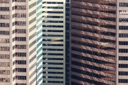 calgary: Windows composition - downtown of Calgary. Calgary, Alberta, Canada Stock Photo