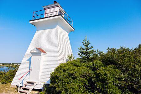 white salmon river: Abbotts Harbour Lighthouse Stock Photo