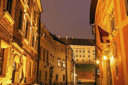 Kanonicza Street in Krakow. Krakow, Malopolskie, Poland 版權商用圖片
