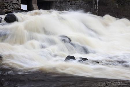 winnipeg: Nelson Falls in Winnipeg, Canada. Seen during spring.
